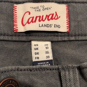 Lands' End Pants - Lands End Grey-Green Cargo Style Pants